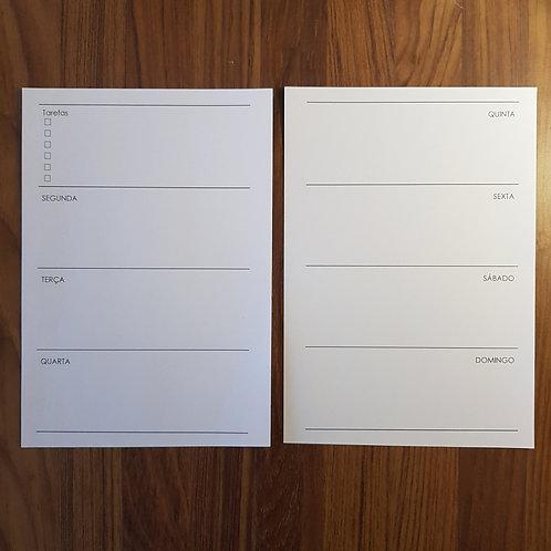 [A5] Uma semana em duas páginas horizontal A5