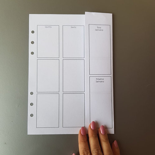 [A5] Semana em duas páginas vertical com dobra EC