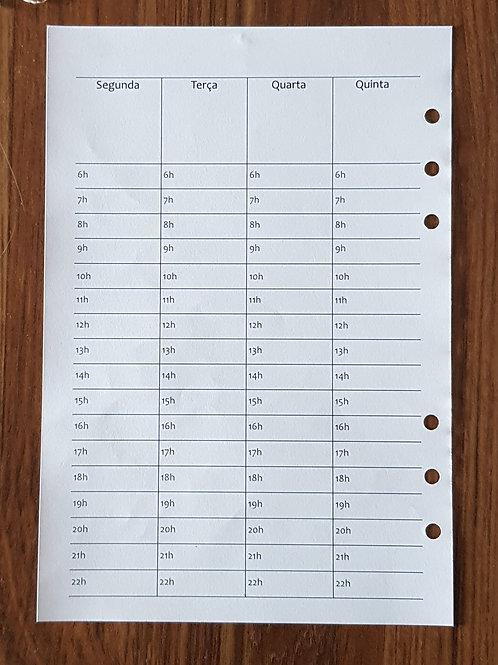 [A5] Semana em duas pg, vertical com horas em A4