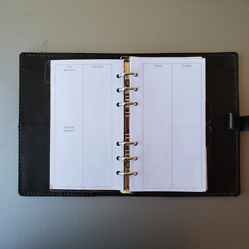 [Personal] Semana em quatro páginas vertical em A4