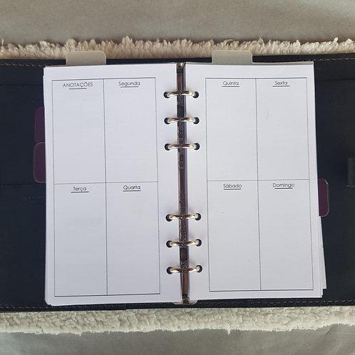 [Personal] Uma semana em duas páginas caixas
