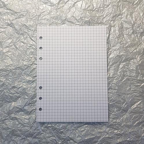 [A5] Folha pontilhada, quadriculada, pautada ou em branco