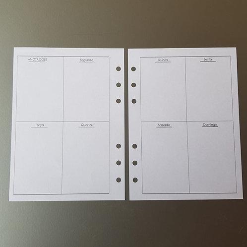 [A5]  Uma semana em duas páginas em caixas
