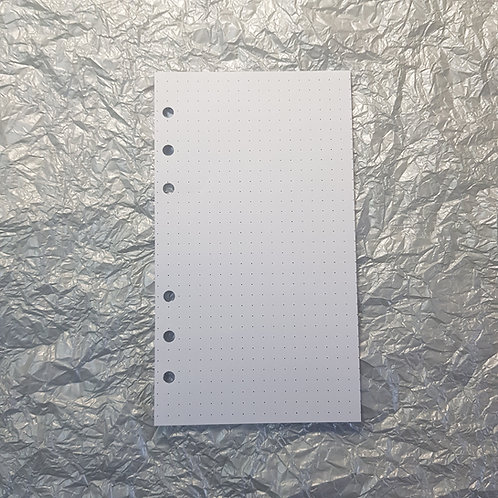 [Personal] Meia folha pontilhada, quadriculada ou em branco