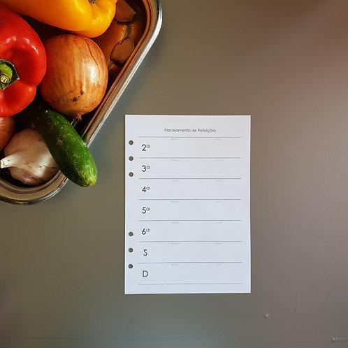 [A5] Planejamento simples de refeições em A5