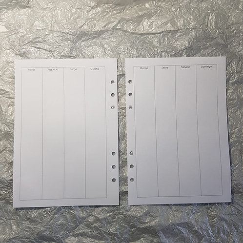 [A5] Semana em duas páginas vertical coluna em caixas