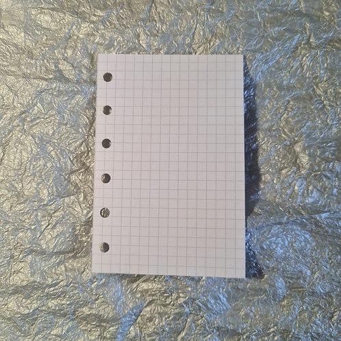 [pocket]  Folha pontilhada, quadriculada ou em branco