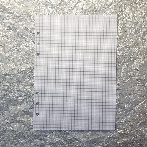 [B6] Folha pontilhada, quadriculada, pautada ou em branco