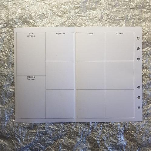 [B6]  Uma semana em duas páginas com dobra G