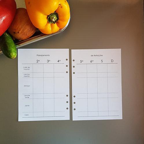 [A5] Planejamento completo de refeições em A5