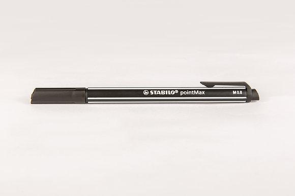 STABILO pointMAX M 0.8, schwarz