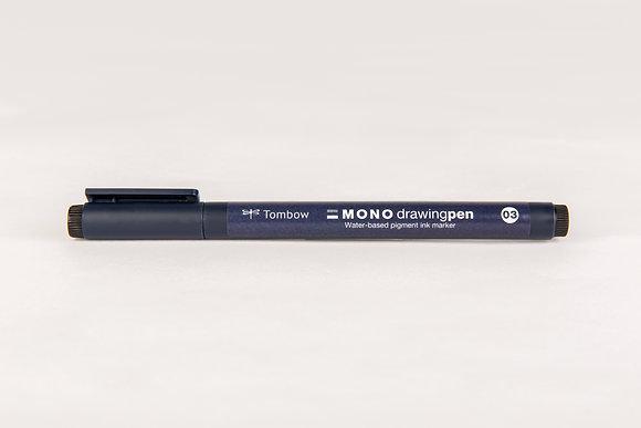 Tombow MONO drawingpen, 0,3 mm, schwarz