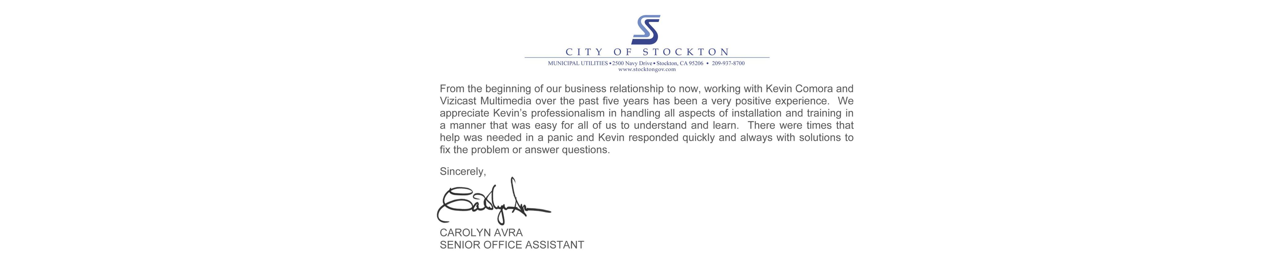 Testimonies Stockton
