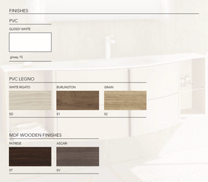 Wood finishes all available and in UK stock