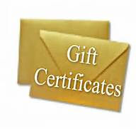 Gift Certificate for First Time Client w