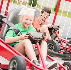 SpeedZone Fun Park kids go-kart track in pigeon forge