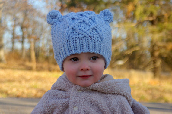 Baby Bear Cable Hat 2