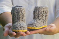 Baby Cable Boots 3