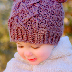 Baby Bear Cable Hat 5