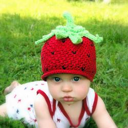 Strawberry hat 1