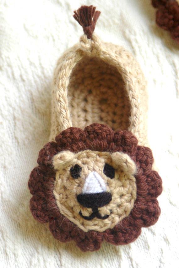 Baby Lion Slipper 1