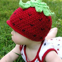 Strawberry hat 3