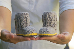 Baby Cable Boots