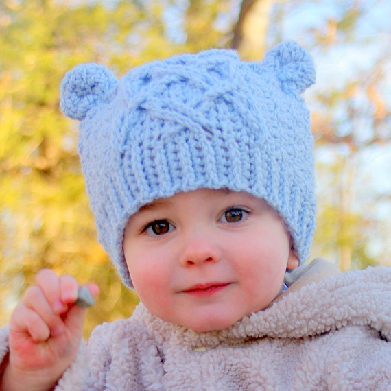 Baby Bear Cable Hat 1