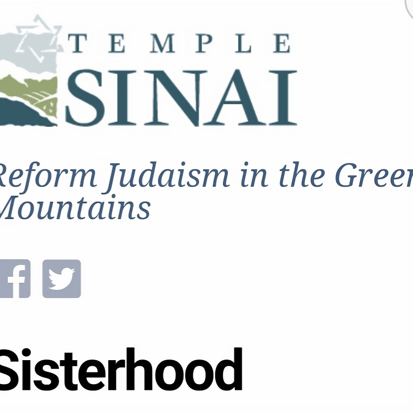 Book discussion with Congregation of Temple Sinai, South Burlington, VT