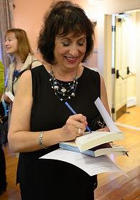 Mindy signing books
