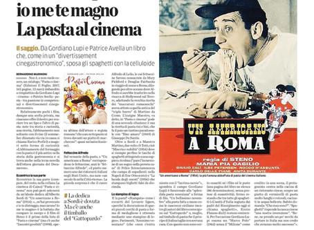 """""""Pasta e cinema"""" recensito su la Provincia di Como-Lecco-Sondrio"""