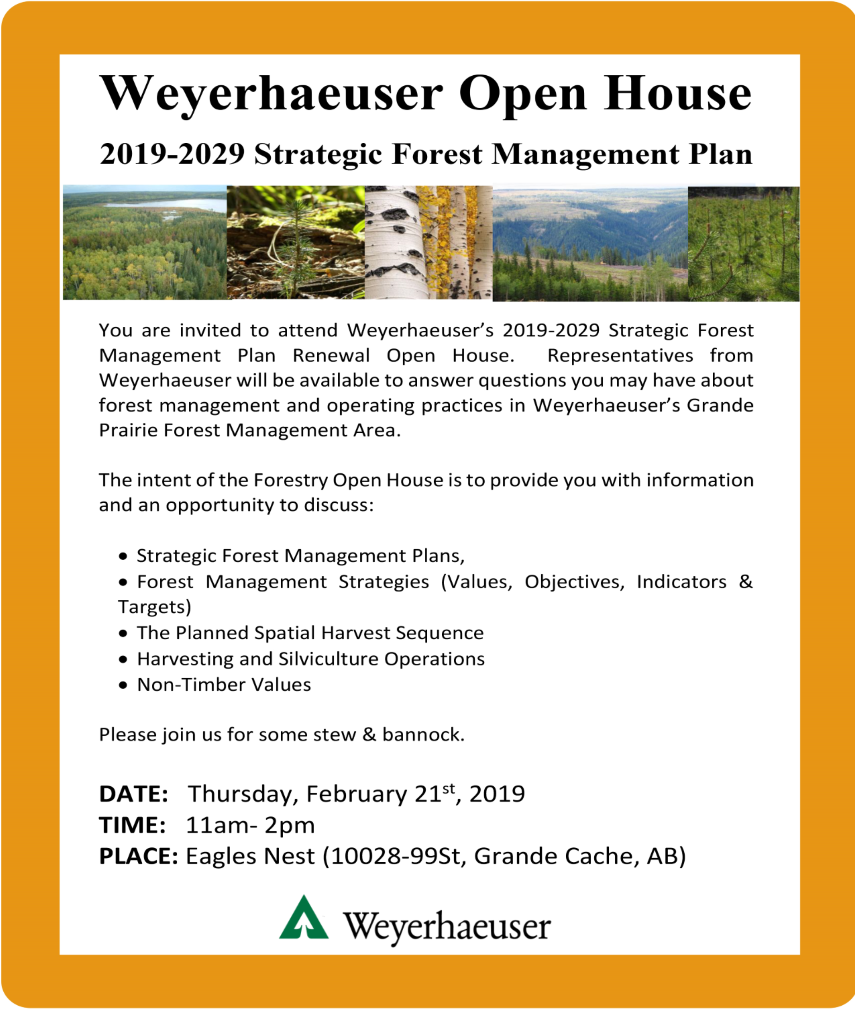 Weyerhaeuser Open House