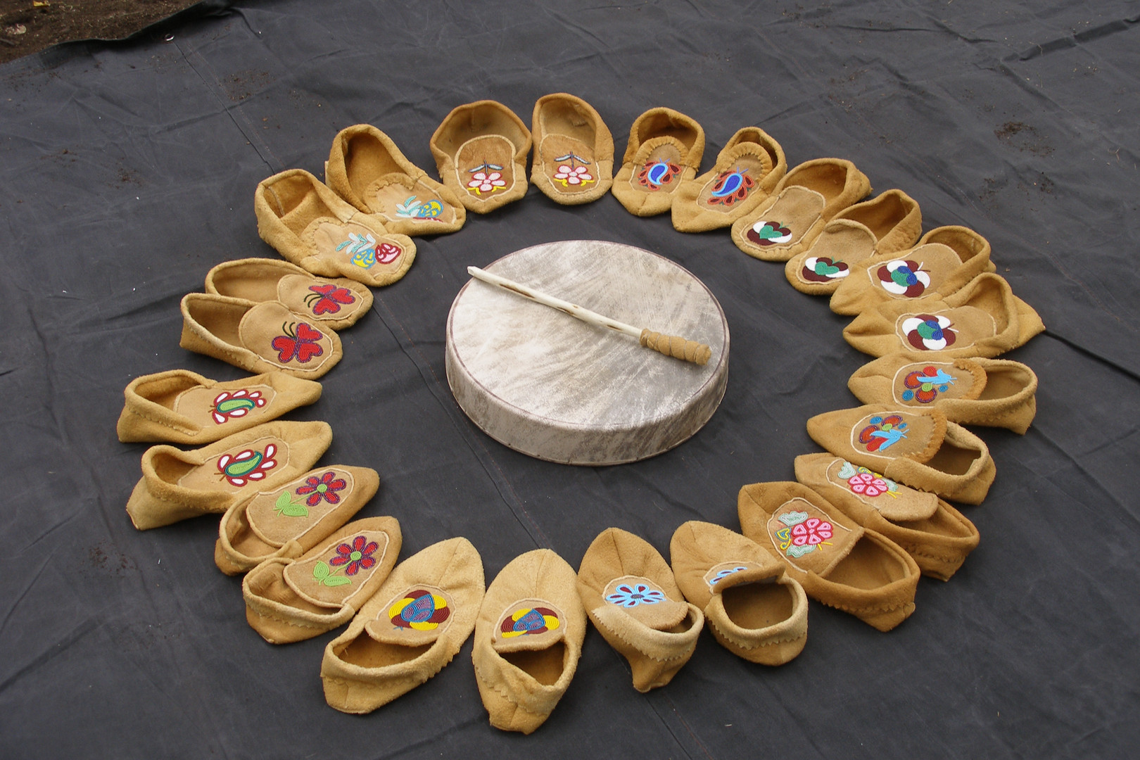 Mocassins and Drum 2005.JPG