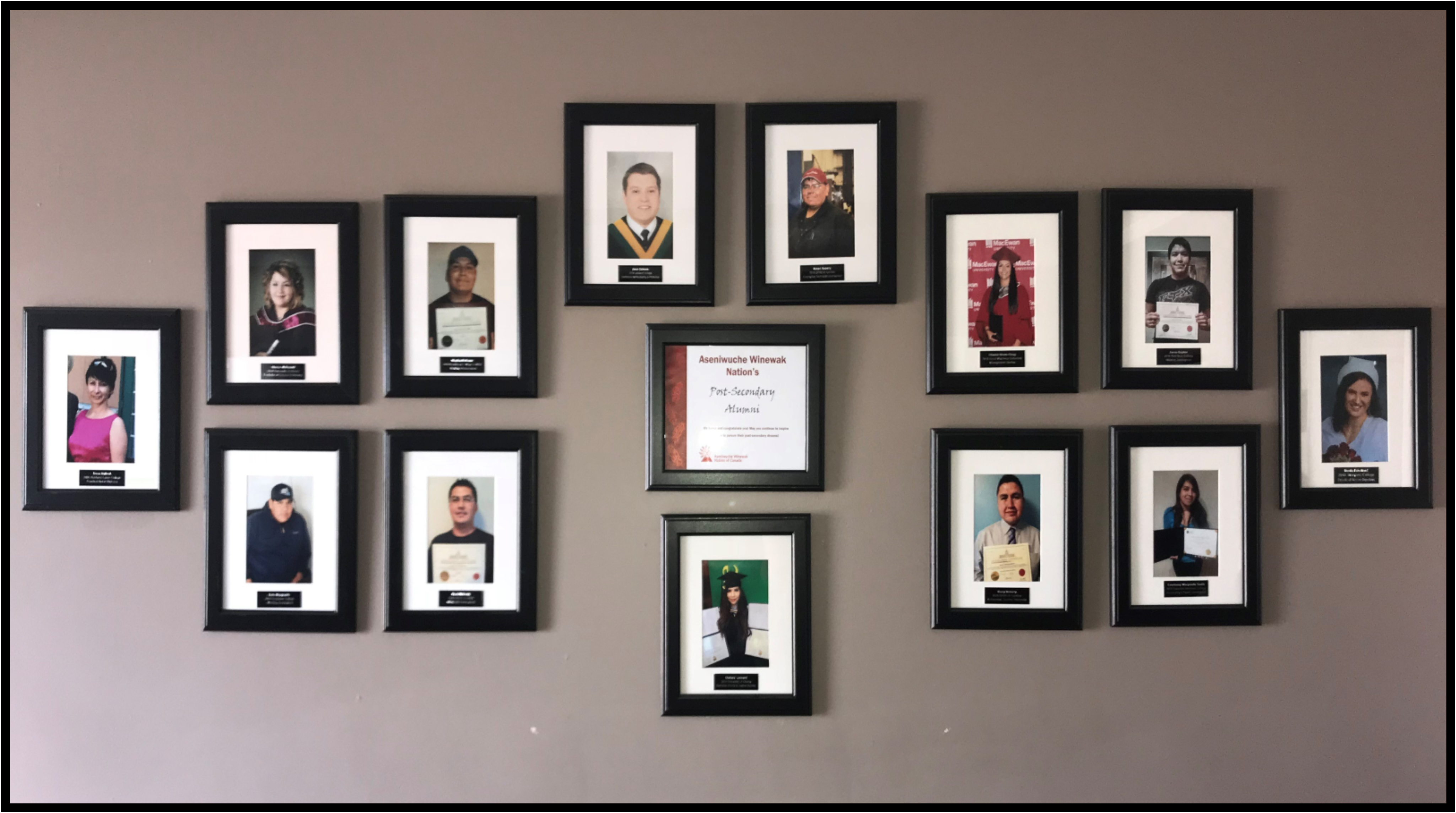 AWN Post-Secondary Alumni Wall