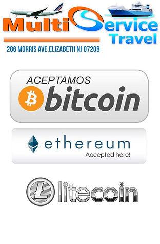 aceptamos bitcoin,ethereum,litecoin