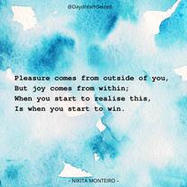 Excerpt from 'Joy'