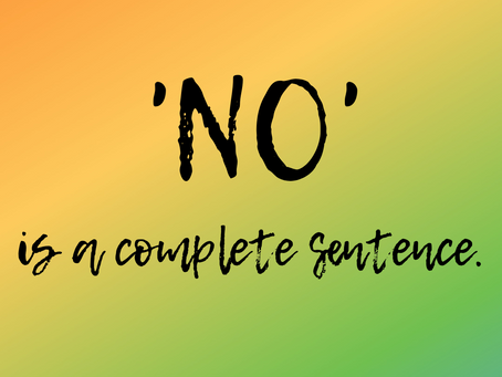 'No' is a complete sentence