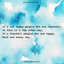 Excerpt from 'Gratitude'