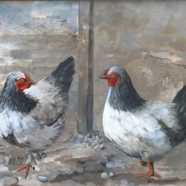 Barnyard Chickens III 16x20.jpg