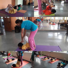 Class was full of spinal stretch