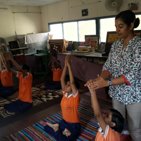 Yoga for Children with Visual Disability.