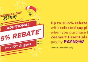 2020 Singapore National Day Promo: Enjoy JUMBO-sized rebates of up to 10.5%!