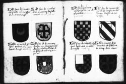 Page d'un recueil de blasons (XVè)