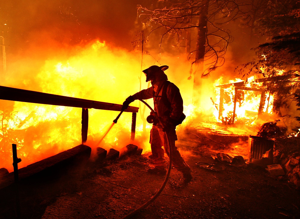 fire, forest fire, firefighter, tahoe