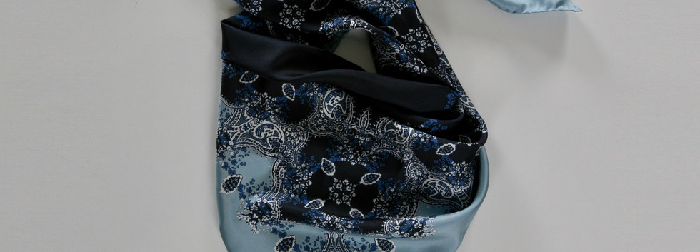 'Frances' print – Indigo, powder blue, cobalt and ivory