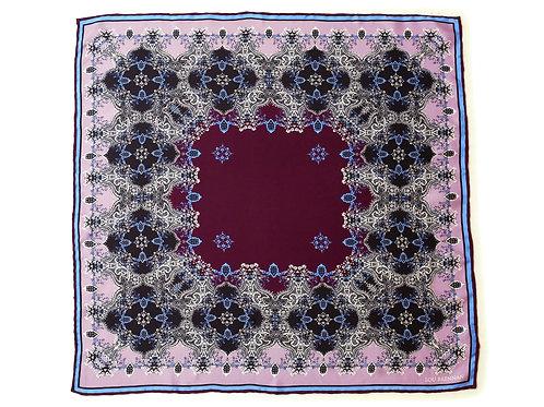 Lilac and Wine Silk 'Frances' Bandana