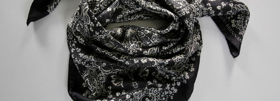 'Kathleen' print – Black slate and pearl