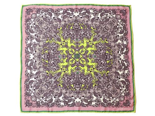 Rose and Green Silk 'Meabh' Bandana