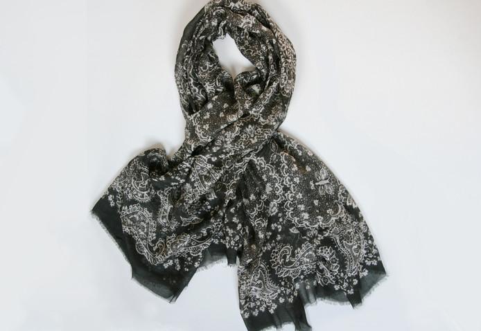 'Kathleen' print – Black slate and ivory