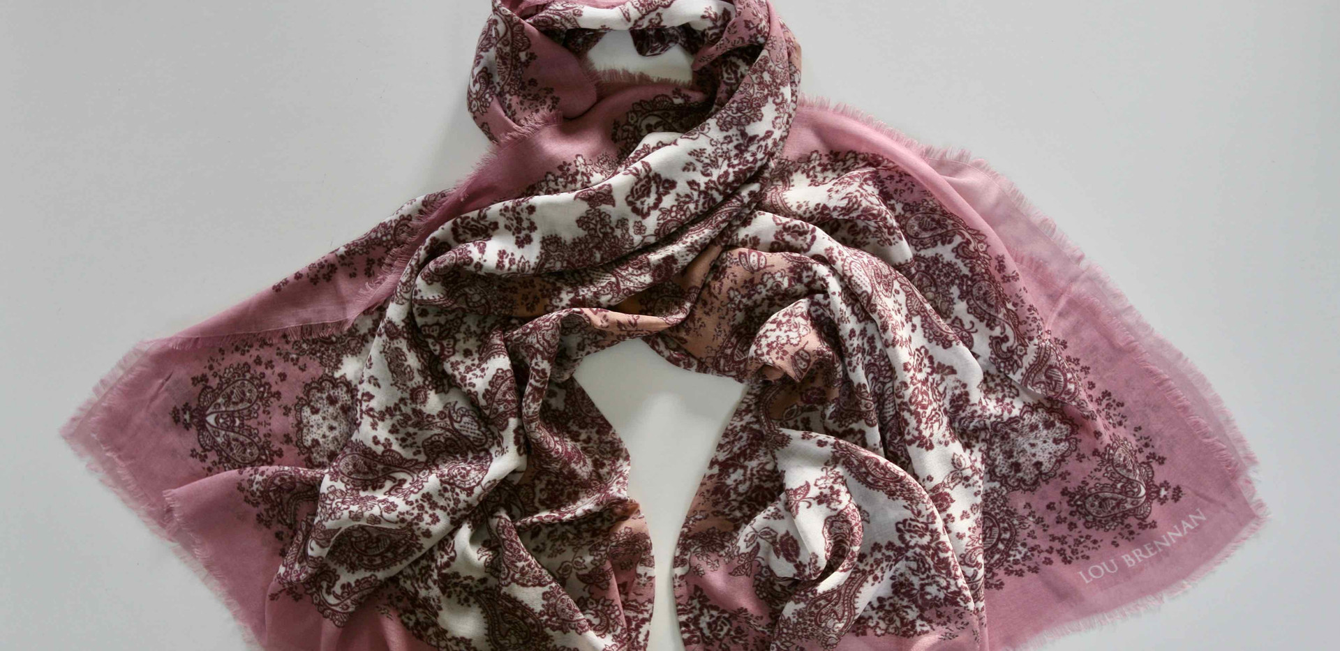 'Meabh' print – Antique rose, tea rose, wine and ivory
